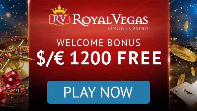 Royal Vegas - رزمة علاوة - $1200 - 3 الإيداعات